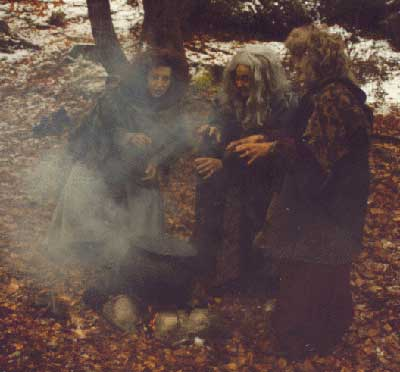 The three witches prophecy great things for Banquo's family